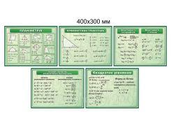 Картонные плакаты для кабинета Математики зелёные