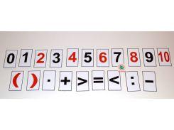 Магнитики обучающие Цифры и знаки 8 см