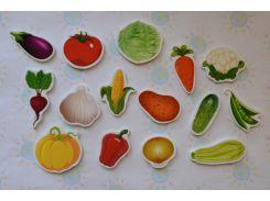Овощи. Магнитики развивающие. Набор 6 см