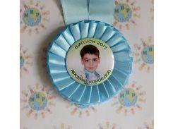 Медали выпускникам с фотографиями Голубые