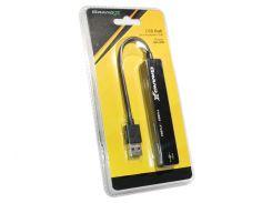 Хаб USB 2.0 Grand-X Travel 4 порта, (1хUSB3.0+3хUSB2.0) (GH-406)