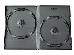Коробка/бокс для DVD/CD (13.5 мм х 19 мм) на 2 диска, 7 mm, Black, 100 шт