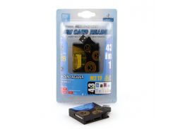 Кардридер внешний AtCom TD2028, Black/Blue, 46 in 1, M2/microSD/Pro Duo/SDHC
