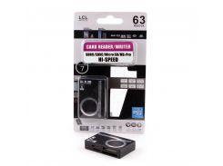 Кардридер внешний AtCom TD2051, M2/microSD/Pro Duo/SDHC