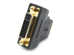 Переходник DVI 24+1(мама) -> HDMI(папа), позолота