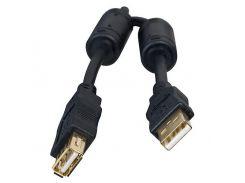 Кабель - удлинитель USB 2.0 - 3.0м AM/AF HQ-Tech черный