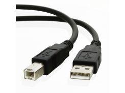Кабель USB 2.0 - 4.5м AM/BM Cablexpert феррит фильтр, черный CCF-USB2-AMBM-15