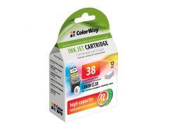 Картридж Canon CL-38, Color, iP1800/1900/2500/2600, MP140/190/210/220/470, MX300/310, 12 ml, ColorWay, Ink Level