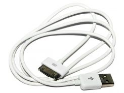 Кабель USB  iPhone 4, Extradigital, White, 1 м (KBD1650)