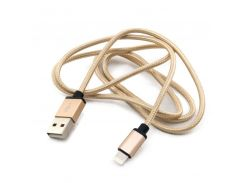 Кабель USB  iPhone 5, Extradigital, Gold, Premium MFi, 1 м (KBA1661)