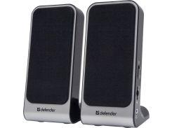 Колонки Defender 2.0 SPK-220/SPK-225 2x2 W, USB, Black