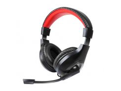 Наушники с микрофоном Gemix HP-802MV Black, 2 x Mini jack (3.5 мм), накладные, кабель 2.4 м