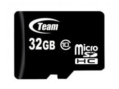Карта памяти microSDHC, 32Gb, Class10, Team, без адаптера (TUSDH32GCL1002)