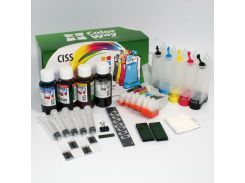 СНПЧ ColorWay Epson XP-600/605/700/800, с чипами, 5 x 100 г чернил (XP600CC-5.1)