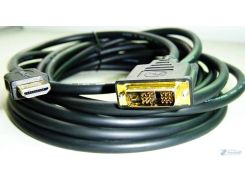 Кабель HDMI на DVI 3 м. HDMI-DVI (Black White), Y-Y
