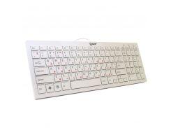 Клавиатура Extradigital ED-K101, White, USB, лазерная гравировка, ножничный механизм, 368 х 130 х 20 мм, 390 г