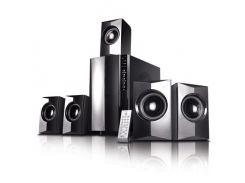 Колонки 5.1 Gemix HT-1050 Black / Sub: 35Вт, Sat: 5х12Вт / 40-20000Hz / МДФ / RCA / ДУ, USB ридер, кардридер SD, управление спереди