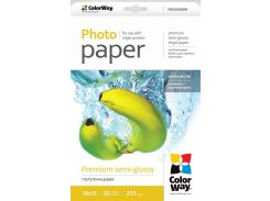Фотобумага ColorWay полуглянцевая, 255 г/м2, A6 (10х15), 50 л, картонная упаковка (PNG2550504R)