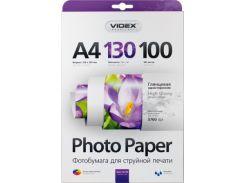 Фотобумага Videx глянцевая, A4, 130 г/м, 100 шт (HGA4 130/100)