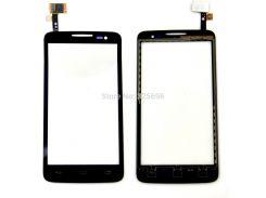 Сенсор (тач скрин) Alcatel 5035 One Touch X Pop black (оригинал)
