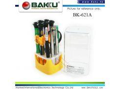 Набор отверток Baku BK-621A, 6 отверток, лупа, 2 пинцета, скальпель, 2 лопатки для моб. телефонов