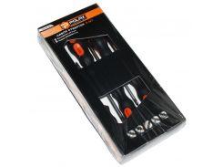 Набор отверток, Polax 5 шт. (SL5x100, SL6x150, SL8x200, PH1x80, PH2x100) (51-021)