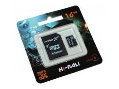 Карта памяти microSDHC, 16Gb, Class4, Hi-Rali, SD адаптер (HI-16GBSDCL4-01)