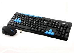 Комплект Havit HV-KB527GCM, Black/Blue, Wireless