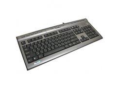 Клавиатура A4tech KL-7MUU-R X-slim USB доп.USB 2.0 Headset, 17 горячих кн, f/Notebook slim 32см
