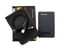 Карман внешний 2,5' Grand-X пластик (HDE22) USB2.0