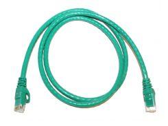 Патч-корд 1 м, UTP, Green, ATcom, литой, RJ45, кат.6е, медь, до 1 ГБ/с