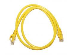 Патч-корд 1 м, UTP, Yellow, ATcom, литой, RJ45, кат.6е, медь, до 1 ГБ/с