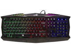 Клавиатура Genius Scorpion K220 USB Black, игровая, 7 цветов подсветки