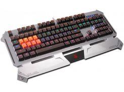 Клавиатура A4tech Bloody B740A USB Silver Grey Игровая, мультимедийная, LED-подсветка, механическая
