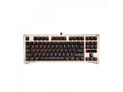 Клавиатура A4tech Bloody B830, USB Golden игровая, мультимедийная, механическая, LED-подсветка