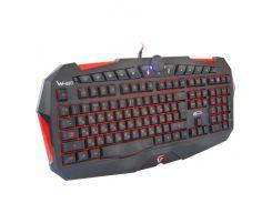 Клавиатура Gemix W-210 Black, игровая, USB, регулируемая LED подсветка клавиатуры (красная, синяя)
