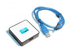 Хаб USB 3.0, HDH-939, White, SD/ MMC / MS /TF/M2, USB2.0
