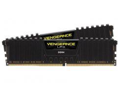 Оперативная память для компьютера 8Gb x 2 (16Gb Kit) DDR4, 2400 MHz, Corsair Vengeance LPX Black, 14-16-16-31, 1.2V, с радиатором (CMK16GX4M2A2400C14)