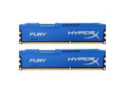 Оперативная память для компьютера 4Gb x 2 (8Gb Kit) DDR3, 1600 MHz (PC3-12800), Kingston HyperX Fury Blue, 10-10-10-28, 1.5V, с радиатором
