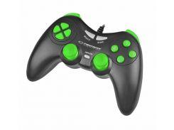 Геймпад Esperanza Fighter EGG105KG Black-Green, USB, 12 кнопок