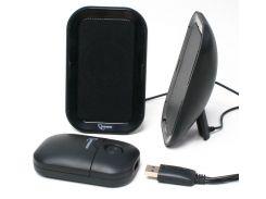 Колонка портативная 2.0 Gembird SPK-623 Black, 2 x 2 Вт, пластиковый корпус, питание от аккумулятора/USB