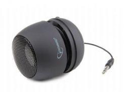 Колонка портативная 1.0 Gembird SPK-103 Black, 2 Вт, питание от аккумулятора