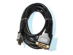 Кабель HDMI на DVI 3.0 м. Viewcon VD 103-3м HDMI- DVI: 18+1, 1.8м. v1.3b, блістер.
