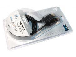 Кабель HDMI to HDMI 2.0m 2Е Ultra Slim 2EW-1359-2m HDMI 1.4 (AM/AM)  180 degree, High Speed, Alumium black