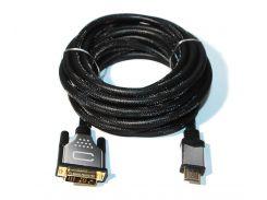 Кабель HDMI на DVI 5.0 м. Viewcon VD 103-5м HDMI- DVI: 18+1, 1.8м. v1.3b, блістер.