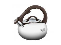 Чайник со свистком Krauff 26-242-038 Silver, 2.8л, нержавеющая сталь