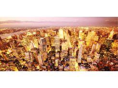 Картина панорамная ЗОЛОТЫЕ ОГНИ НЬЮ-ЙОРКА