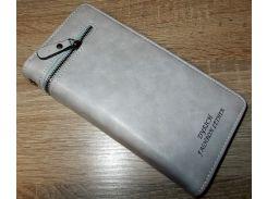 Кошелек - клатч серый №10226