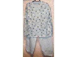 Пижама на байке мужская Турция размер XXL (наш 56-58)