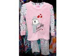 Пижама теплая Турция флис и мех размер L,XL отличное качество